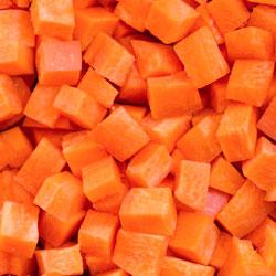 Zanahoria en cubos
